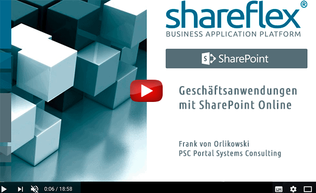 Shareflex Business Application Platform Video Vorschaubild