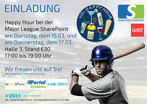 Major League SharePoint Einladung