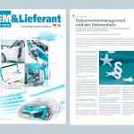 Artikel in der OEM&Lieferant zu Dokumentenmanagement und DSGVO