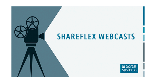 Ankündigung der Shareflex Webcasts