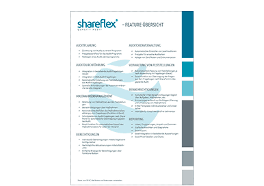 Vorschau Shareflex Auditmanagement Features