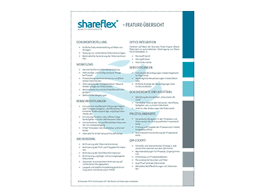 Vorschaubild Shareflex Quality Documents Features