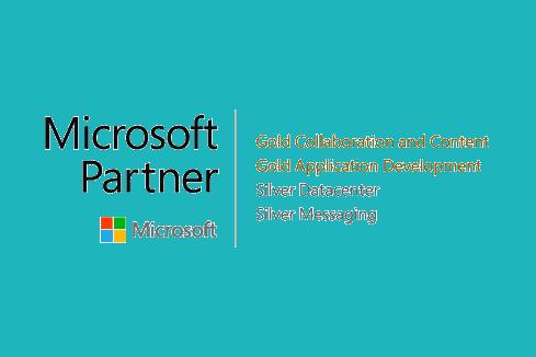 Microsoft Partnerkompetenzen Gold und Silber Logo Portal Systems