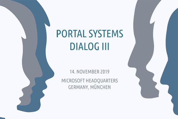 Der Portal Systems Dialog 2019 findet am 14.11. bei Microsoft in München statt