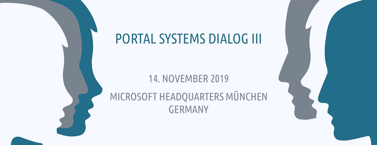 Der Portal Systems Dialog ist ein Event für Kunden, Interessenten und Partner