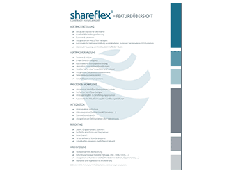 feature overview shareflex contract management software