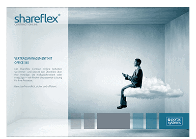 titelseite kurzguide vertragsmanagement software shareflex contract online