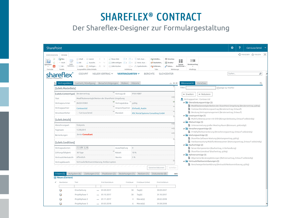 formulardesigner shareflex contract