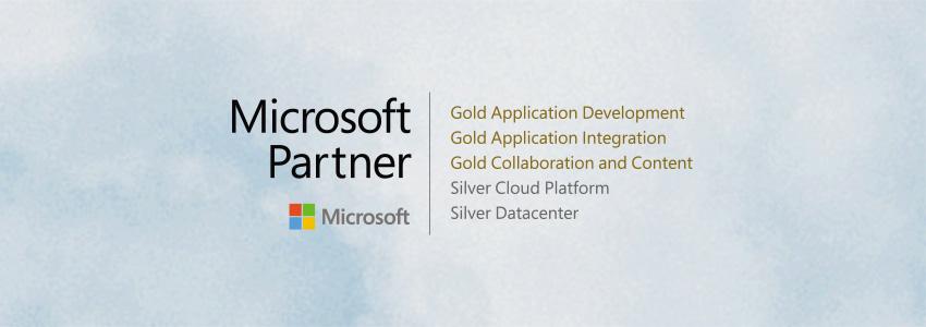 Logo der Microsoft Gold und Silber Partner-Zertfikate der Portal Systems AG