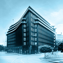 The Chilehaus in Hamburg hosts the headquarters of Portal Systems AG