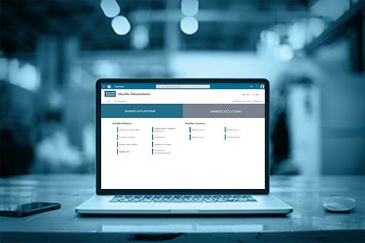 Laptop mit Vorschau auf das Portal Systems Dokumentationssystem