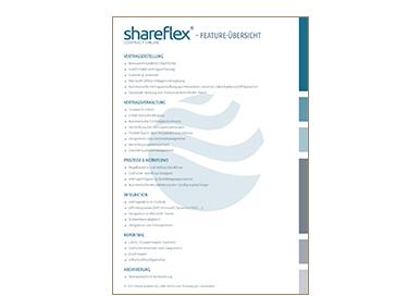 Die Feature-Übersicht zu Shareflex Contract Online in der Portal Systems Mediathek