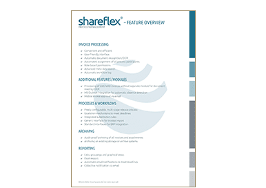 Feature overview of invoice management software Shareflex Invoice in the Portal Systems media library