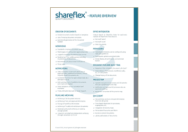 Feature overview of document control software Shareflex Quality Documents in the Portal Systems media library