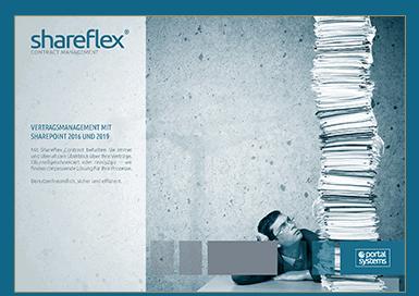Vorschau auf den Kurzguide zu der Vertragsmanagement Software Shareflex® Contract