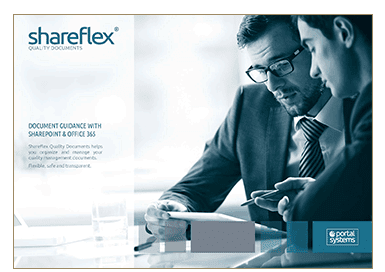 Preview of the short guide for Shareflex Quality Documents in the Portal Systems media library