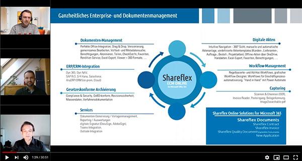 Vorschau auf das Video zu Dokumentenmanagement mit Shareflex und dox42